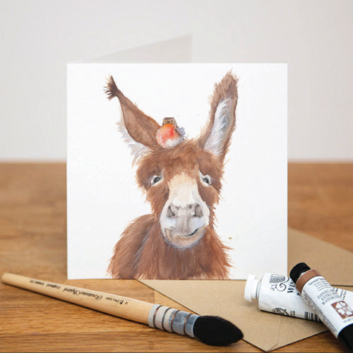 DONKEY AND ROBIN GREETING CARD
