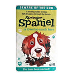 "Paper Island - Dog Sign/Plaque ""Springer Spaniel (Brown & White)"