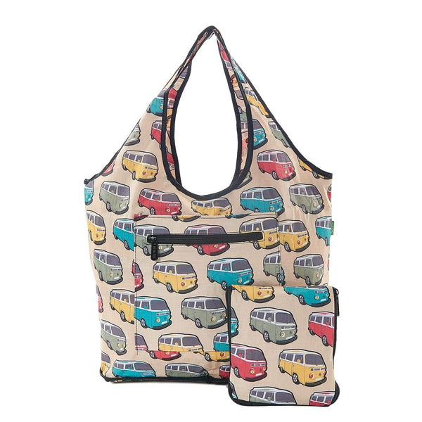 Weekend Bag by Eco Chic  Camper Van Print  Cream