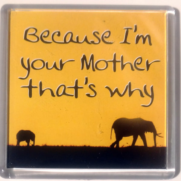 Heart And Home Sentiment Fridge Magnet - Family MAG-090 / Because I'm your Mother that's why