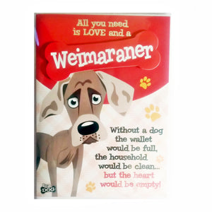 "Wags & Whiskers Dog Greeting Card ""Weimaraner"" by Paper Island"
