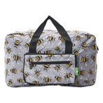 Eco Chic Lightweight Foldable Holdall Bees (Grey)