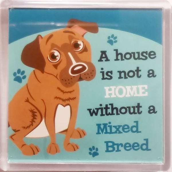 "Wags & Whiskers Dog Magnet ""Mixed Breed"" by Paper Island"