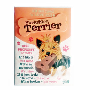 "Dog Greeting Card ""Yorkshire Terrier"" by Paper Island"