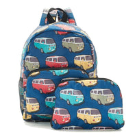 New 2020 Eco Chic 100% Recycled Foldabe Camper Van Print Mini Backpack