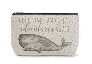 East of India - Toiletry/Cosmetic Bag - Whale