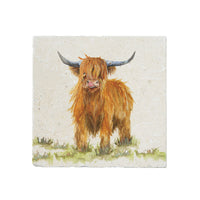 HIGHLAND COW LARGE PLATTER