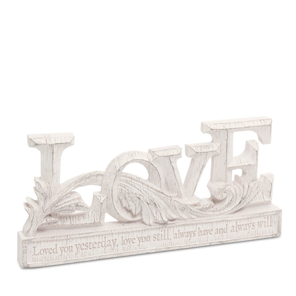 "Heart and Home Resin Words ""Love"""