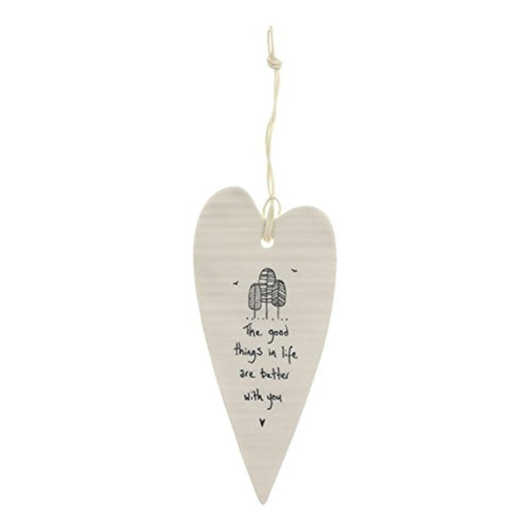 East of India The good things in life? Long Porcelain Heart