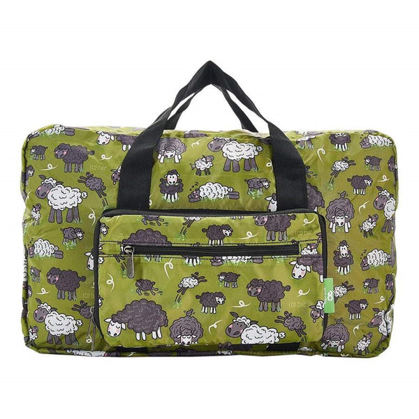 Eco Chic Lightweight Foldable Holdall Sheep (Green)