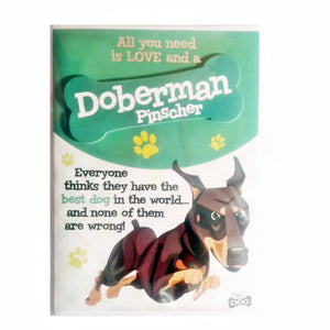 "Wags & Whiskers Dog Greeting Card ""Doberman Pinscher"" by Paper Island"