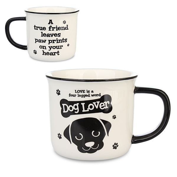 "Wags & Whiskers Mug ""Dog Lover"" by History & Heraldry"