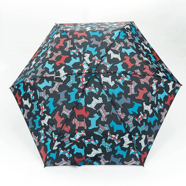 New Floral Scotty Dog Mini Umbrella by Eco Chic