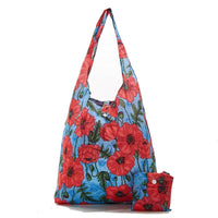 New 2020 Eco Chic 100% Recycled Foldabe Poppies Print Reusable Shopper Bag