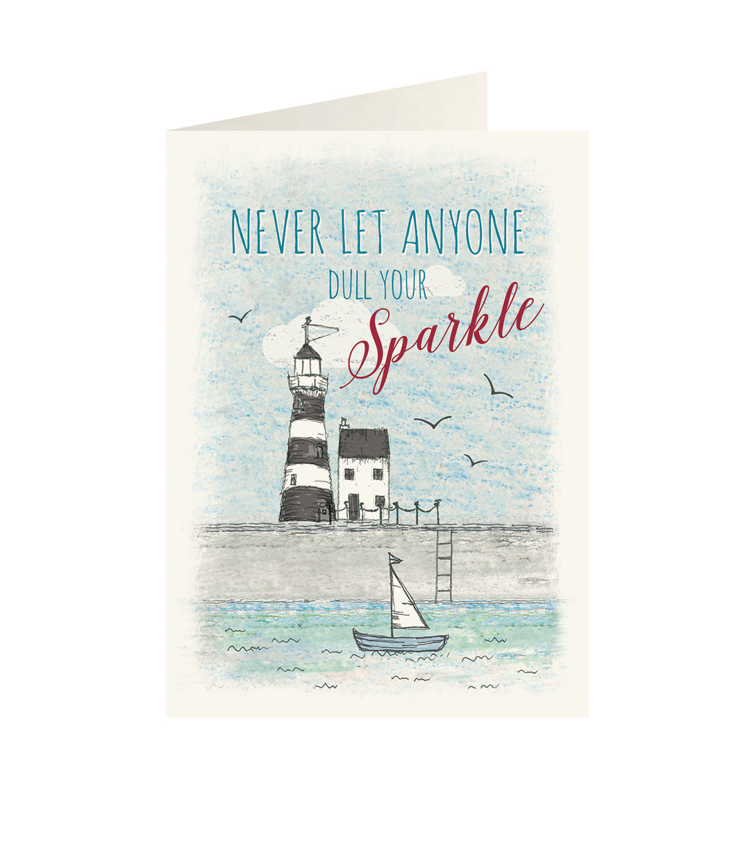 East Of India - Wonderland greeting card - Never let anyone dull your sparkle
