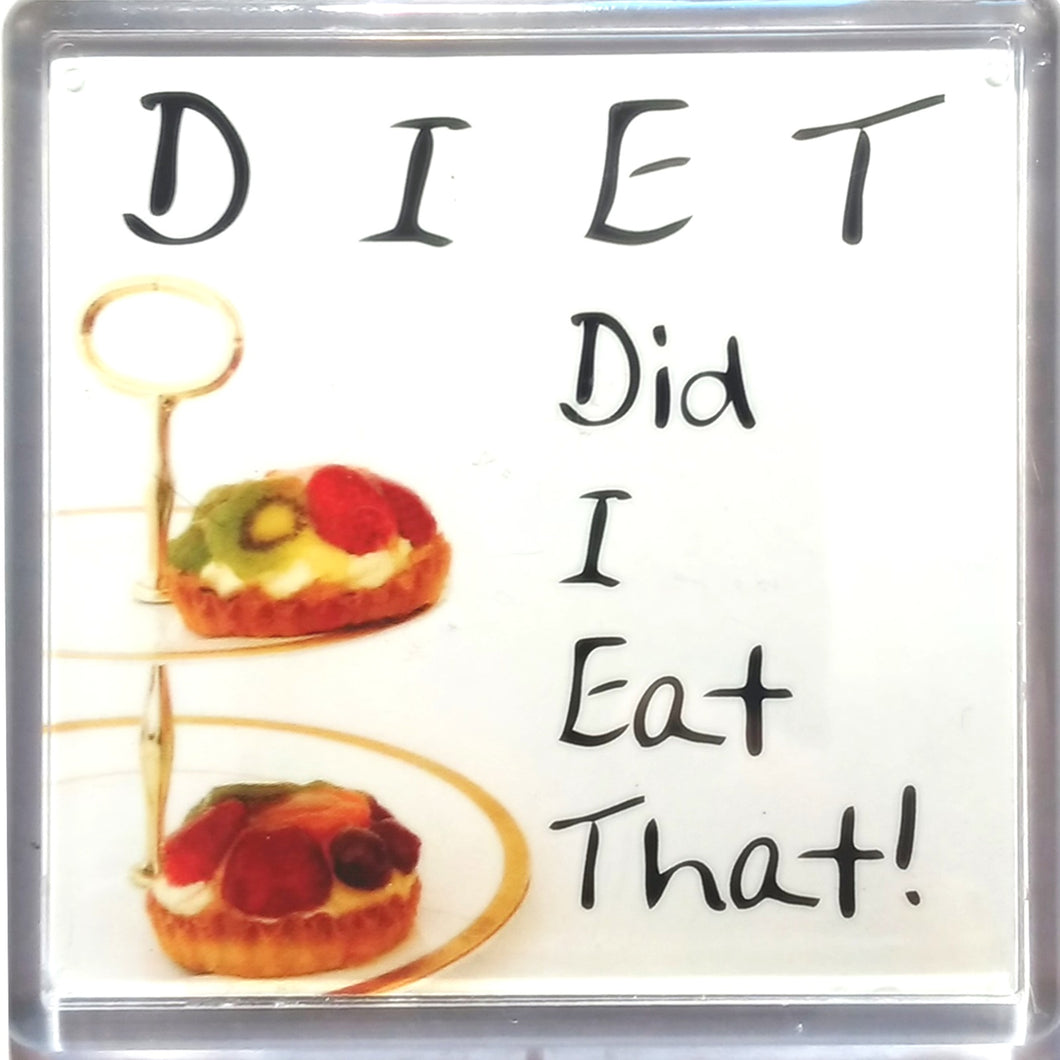 Diet Did i Eat That !   Fridge magnet from H&H