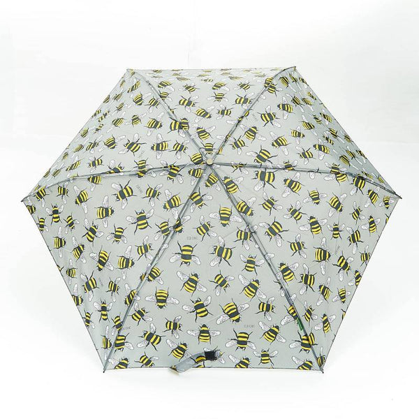 Grey Bee Mini Umbrella by Eco Chic