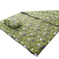 Green Sheep picnic blanket by Eco Chic