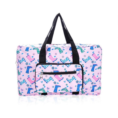 Eco-Chic Pink Welly Print Holdall
