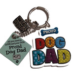 "Wags & Whiskers Dog Key Ring ""Proud Wags & Whiskers Dog Dad"" by Paper Island"