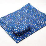 Eco Chic Foldable Waterproof Picnic Blanket Blue Puffins