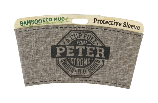 "Eco Mug Heat Sleeve/Wrap ""Peter"" By History & Heraldry"
