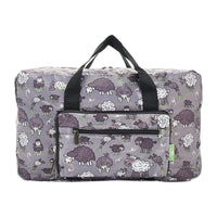 Eco Chic Lightweight Foldable Holdall Sheep (Grey)