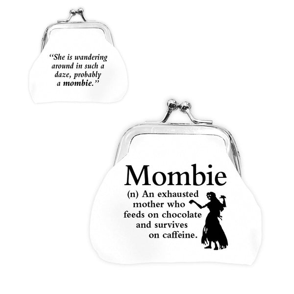 "Urban Words Mini Clip Purse ""Mombie"" with urban Meaning"