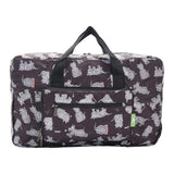 Eco Chic Lightweight Foldable Holdall Scatty Scotty (Black)