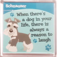 "Wags & Whiskers Dog Magnet ""Schnauzer"" by Paper Island"