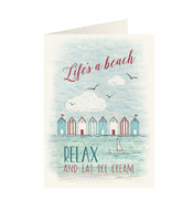 East Of India - Wonderland greeting card - Life's a beach relax and eat ice cream