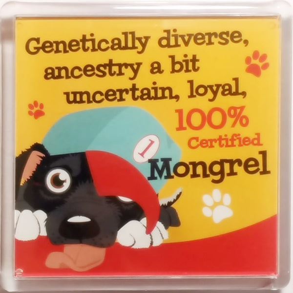 "Wags & Whiskers Dog Magnet ""Mongrel"" by Paper Island"
