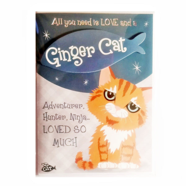 "Wags & Whiskers Cat Greeting Card ""Ginger Wags & Whiskers Cat Playful, Proud"" by Paper Island"