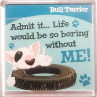 "Wags & Whiskers Dog Magnet ""Bull Terrier"" by Paper Island"