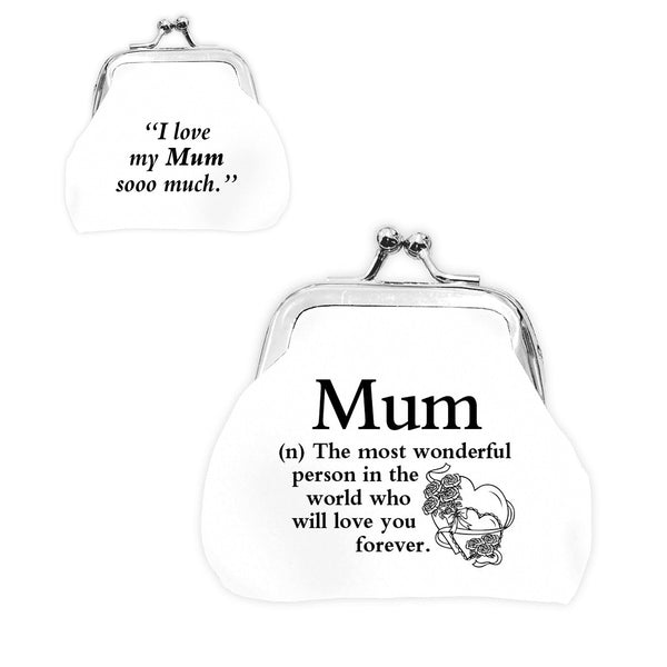 "Urban Words Mini Clip Purse ""Mum"" with urban Meaning"
