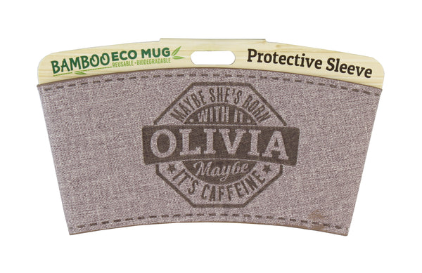 "Eco Mug Heat Sleeve/Wrap ""Olivia"" By History & Heraldry"