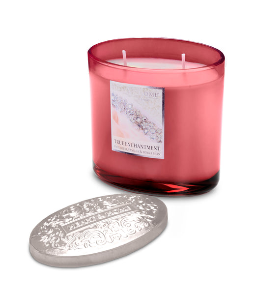 True Enchantment Fragranced 2 Wick Ellipse Candle from Heart & Home