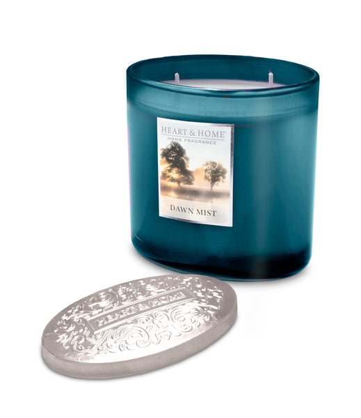 Dawn Mist Fragranced 2 Wick Ellipse Candle from Heart & Home