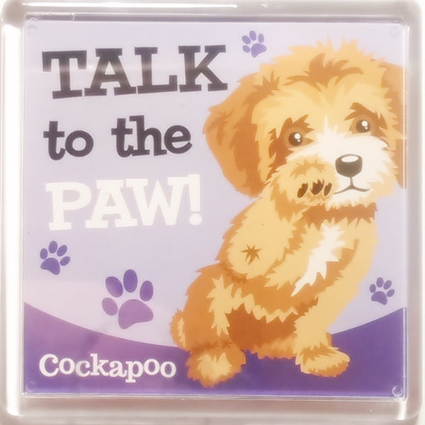 "Wags & Whiskers Dog Magnet ""Cockapoo"" by Paper Island"