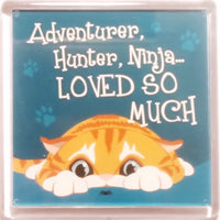 "Wags & Whiskers Cat Magnet ""Ginger Wags & Whiskers Cat (hunter)"" by Paper Island"
