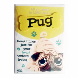 "Wags & Whiskers Dog Greeting Card ""Pug"" by Paper Island"