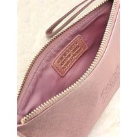 "Clutch Bag With Handle & Embossed Text ""Megan"""