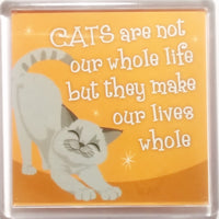 "Wags & Whiskers Cat Magnet ""Grey Wags & Whiskers Cat (whole)"" by Paper Island"