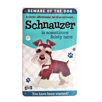 "Wags & Whiskers  Dog Sign/Plaque ""Schnauzer"" - Tin Plaque"