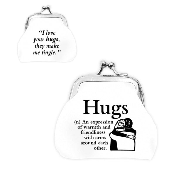 "Urban Words Mini Clip Purse ""Hugs"" with urban Meaning"