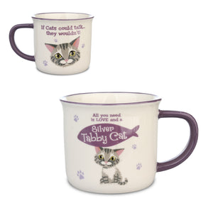 "Wags & Whiskers Mug ""Silver Tabby Cat"" by History & Heraldry"