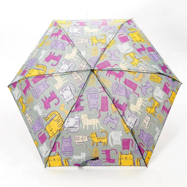 Funky Cats Mini Umbrella by Eco Chic