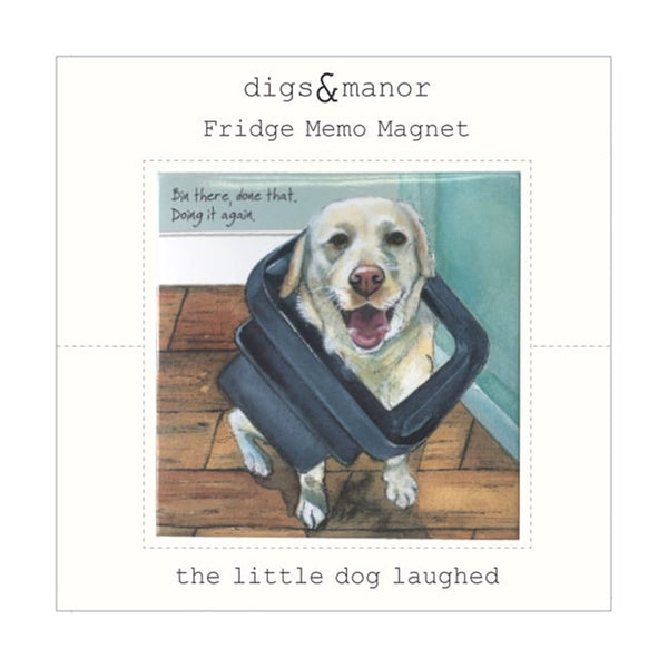 Yellow Labrador Magnet - Bin There