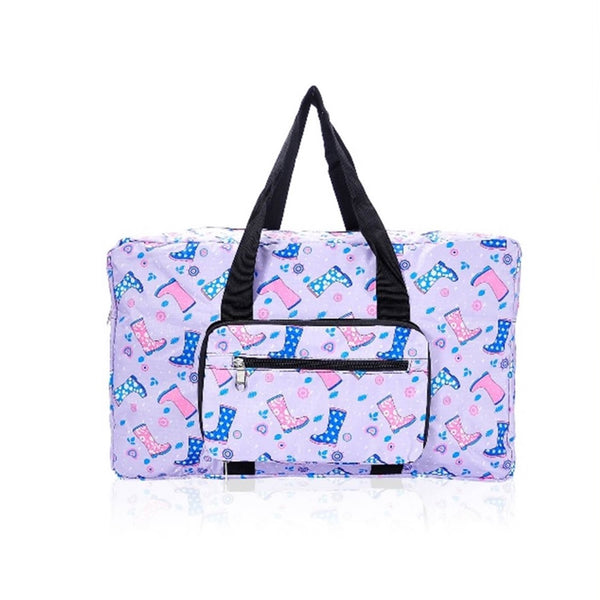 Eco-Chic Lilac Welly Print Holdall