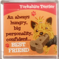 "Wags & Whiskers Dog Magnet ""Yorkshire Terrier"" by Paper Island"